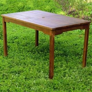 International Caravan Outdoor Acacia Rectangular Dining Table