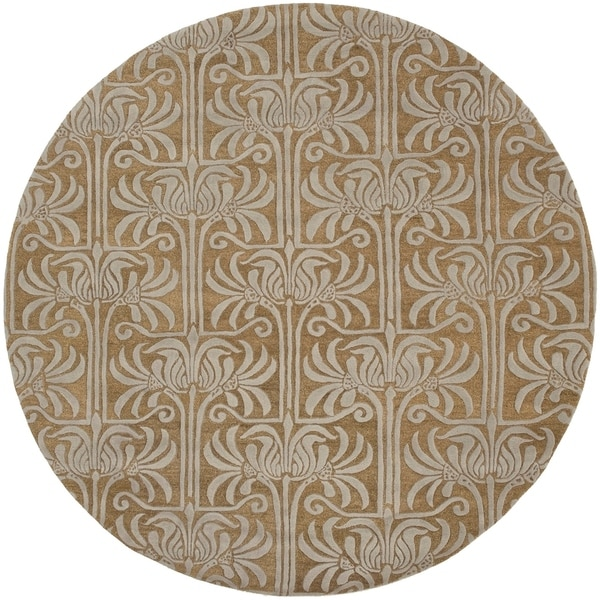 Shop Hand-tufted Brown Lysso New Zealand Wool Area Rug