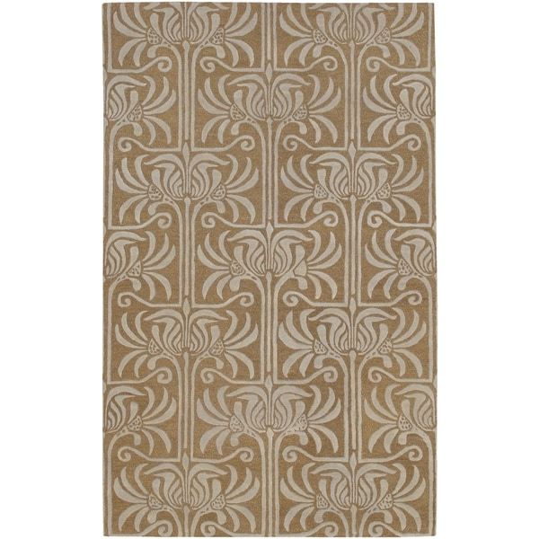 Hand-tufted Grey Lysso New Zealand Wool Area Rug - 9' x 13'