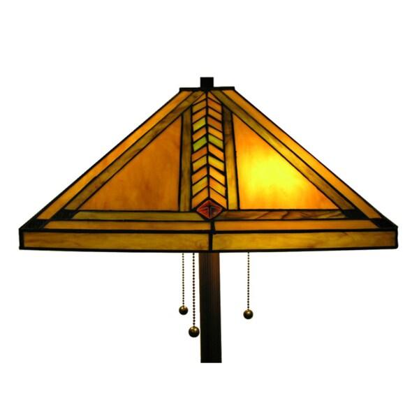 Warehouse of Tiffany Amber Classic Style Floor Lamp