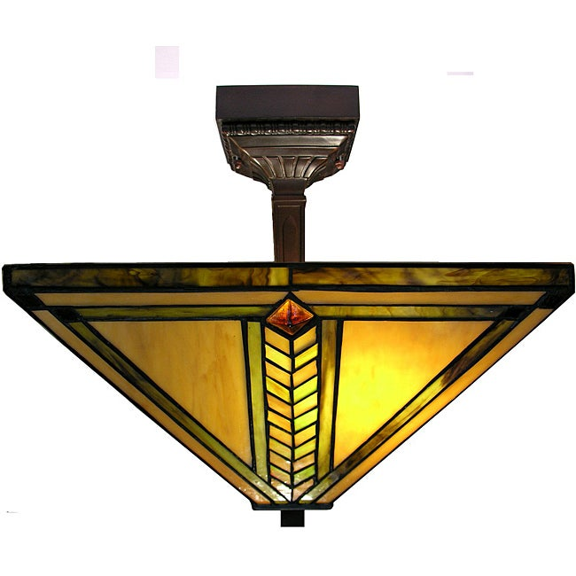 Warehouse of Tiffany Yellow Gold Mission Ceiling Lamp - Thumbnail 0