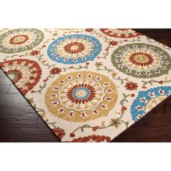 Hand-tufted Tan Matzoh Wool Rug (3'3 x 5'3)