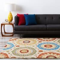 Hand-tufted Tan Matzoh Wool Area Rug - 3'3 x 5'3