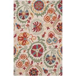 Hand-tufted Tan Maple Wool Rug (8' x 11')