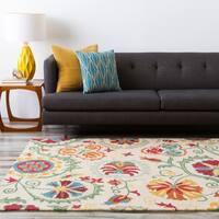 Hand-tufted Tan Maple Wool Area Rug - 8' x 11'
