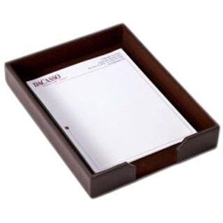 Dacasso Econo-Line Leather Letter Tray