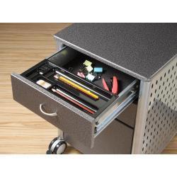 Innovex Granite Black Mobile Filing Cabinet - Thumbnail 1