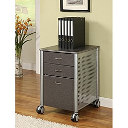 Innovex Granite Black Mobile Filing Cabinet
