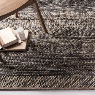 The Gray Barn Magda Hand-woven Grey/ Brown Casual Wool Area Rug - 5' x 8' - Thumbnail 0