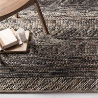 The Gray Barn Magda Hand-woven Grey/ Brown Casual Wool Area Rug - 5' x 8'