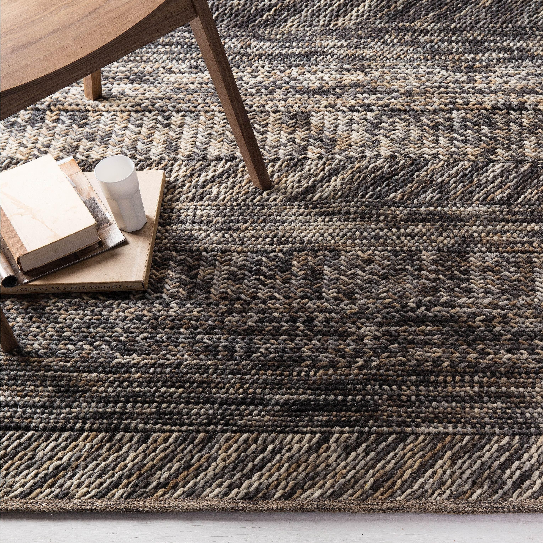 The Gray Barn Magda Hand-woven Grey/ Brown Casual Wool Area Rug - 8' x 10'