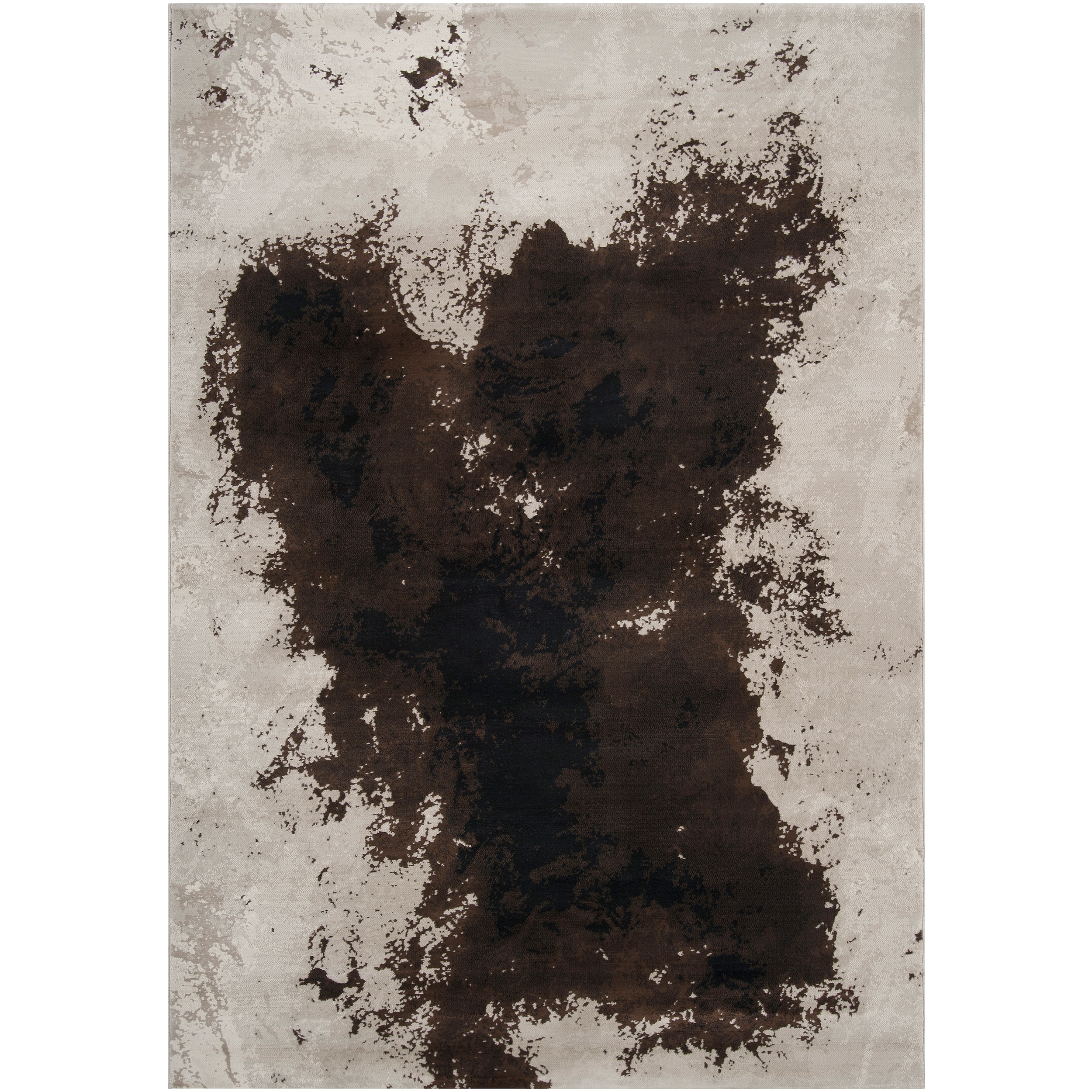 Meticulously Woven Contemporary Brown Vintage Colander Abstract Rug (5'3 x 7'3)