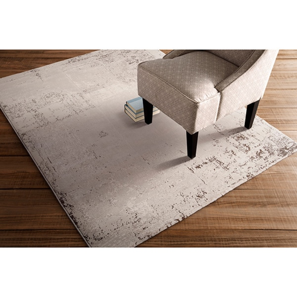 Meticulously Woven Vintage Contemporary Crockery Abstract Rug (5'3 x 7'3)