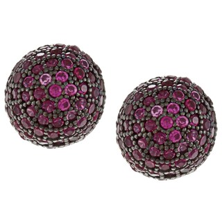 La Preciosa Sterling Silver 8mm Micro Pave Stud Earrings (2 options available)
