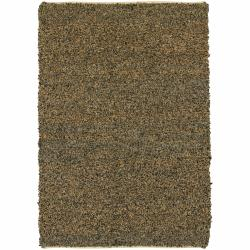Artist's Loom Hand-woven Natural Eco-friendly Fiber Fiber Shag Rug (5' x 7'6) - Thumbnail 0
