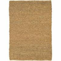 Artist's Loom Hand-woven Natural Eco-friendly Fiber Fiber Shag Rug - 5' x 7'6