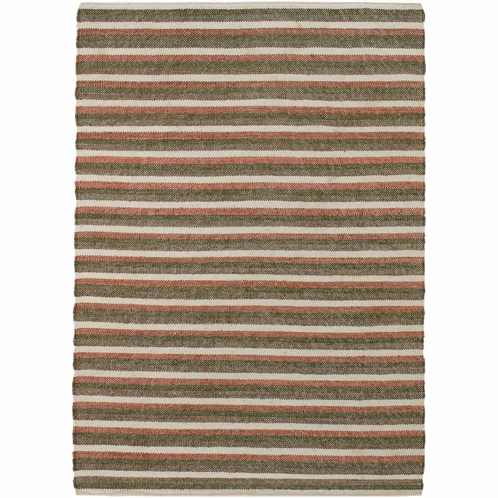 Hand-woven Mandara Stripes Rug (5' x 7'6)