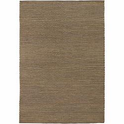Artist's Loom Hand-woven Natural Eco-friendly Leather Shag Rug (2'x3')