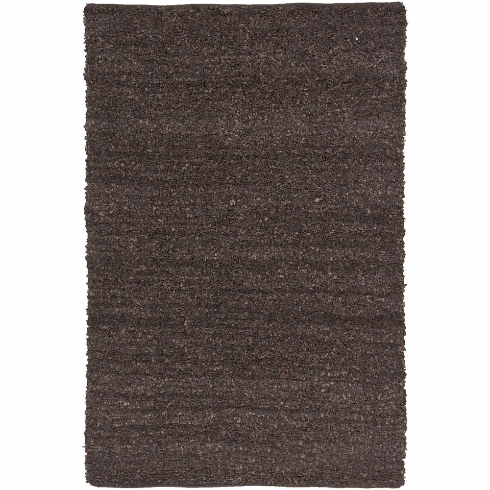 Artist's Loom Hand-woven Natural Eco-friendly Leather Shag Rug (7'9x10'6)