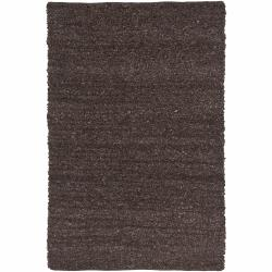 Artist's Loom Hand-woven Natural Eco-friendly Leather Shag Rug (7'9x10'6) - Thumbnail 0