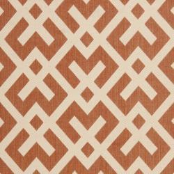 "Safavieh Courtyard Contemporary Terracotta/ Bone Indoor/ Outdoor Rug (5'3"" x 7'7"") - Thumbnail 2"
