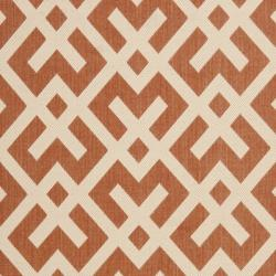 Safavieh Courtyard Contemporary Terracotta/ Bone Indoor/ Outdoor Rug (9' x 12') - Thumbnail 2