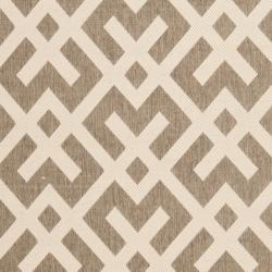 Safavieh Courtyard Contemporary Brown/ Bone Indoor/ Outdoor Rug (6'7 x 9'6) - Thumbnail 2