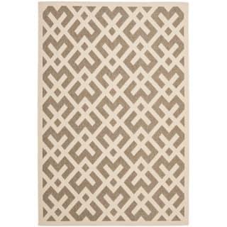 Safavieh Courtyard Contemporary Brown/ Bone Indoor/ Outdoor Rug (9' x 12')|https://ak1.ostkcdn.com/images/products/6578448/P14153429.jpg?impolicy=medium