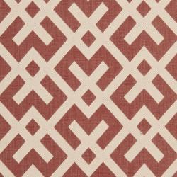 "Safavieh Courtyard Contemporary Red/ Bone Indoor/ Outdoor Rug (8' x 11'2"") - Thumbnail 2"