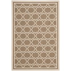 Safavieh Courtyard Poolside Brown/ Bone Indoor/ Outdoor Rug (5'3 x 7'7)
