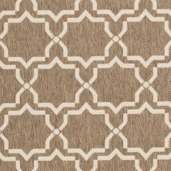 Safavieh Courtyard Poolside Brown/ Bone Indoor/ Outdoor Rug (8' x 11'2) - Thumbnail 2