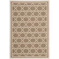 Safavieh Courtyard Poolside Brown/ Bone Indoor/ Outdoor Rug - 8' x 11'2