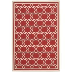 Safavieh Poolside Red/ Bone Indoor/ Outdoor Area Rug (9' x 12')