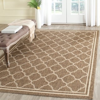 safavieh poolside brownbone bordered rug 4u0027 x