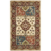 Safavieh Handmade Heritage Timeless Traditional Multi/ Red Wool Rug (3' x 5')