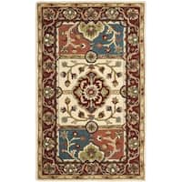 Safavieh Handmade Heritage Timeless Traditional Multi/ Red Wool Rug - 3' x 5'