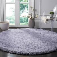 Safavieh Classic Plush Handmade Super Dense Lilac Purple Shag Rug - 6' x 6' Round