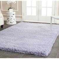 Safavieh Classic Plush Handmade Super Dense Lilac Purple Shag Rug - 4' x 6'