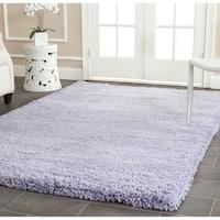 Safavieh Classic Plush Handmade Super Dense Lilac Purple Shag Rug (7'6 x 9'6)
