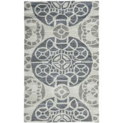 Safavieh Handmade Chatham Treasures Silver New Zealand Wool Rug (2'6 x 4')