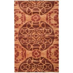 Safavieh Handmade Chatham Treasures Cinnamon N.Z. Wool Rug (2'6 x 4')