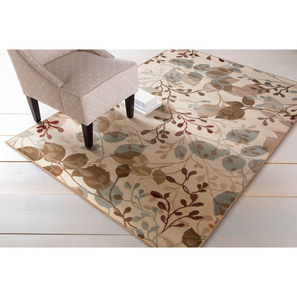 Woven Beige Holland Area Rug - 5'3 x 7'6