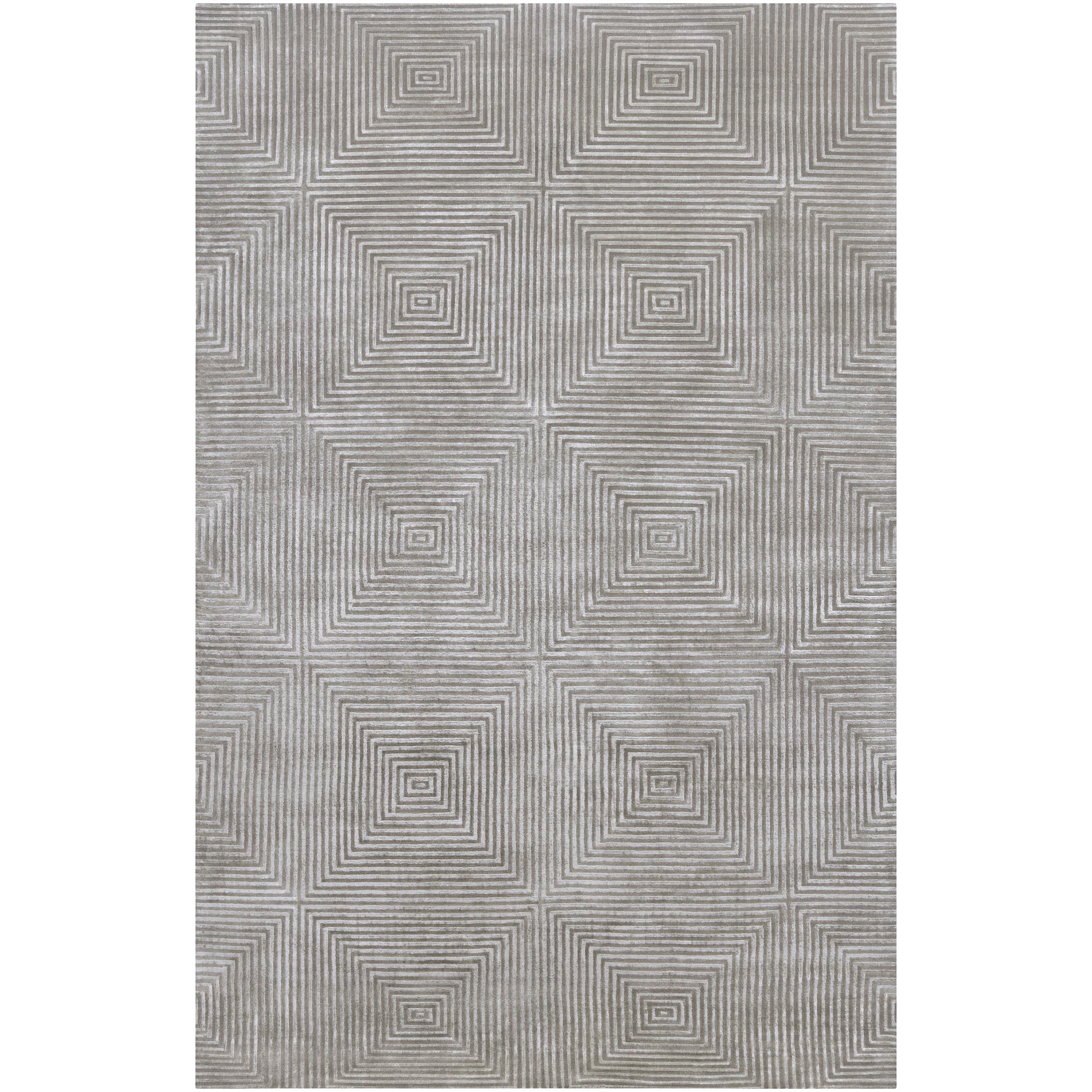 Hand-knotted Gray Apeiro Geometric Wool Rug (8' x 11')