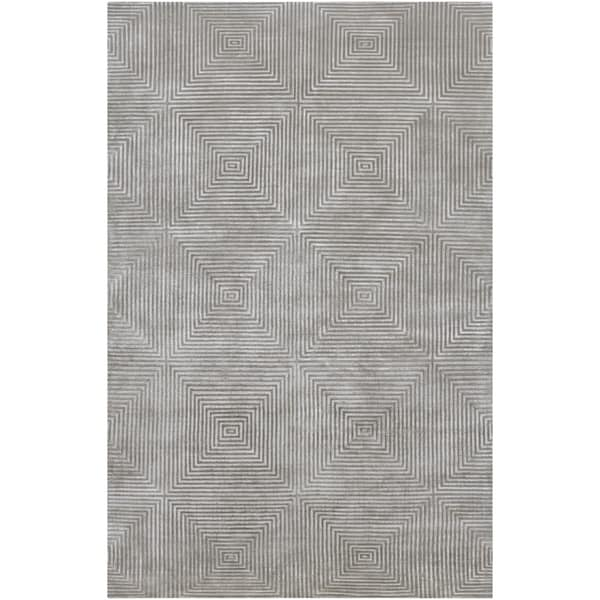 Hand-knotted Gray Apeiro Geometric Wool Area Rug - 4' x 6'