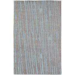 Candice Olson Hand-knotted Silver Asymmetri Abstract Plush Wool Rug (9' x 13')