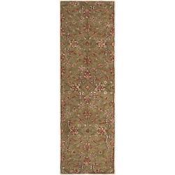 Hand-tufted Green Haphene Wool Rug (2'6 x 8')