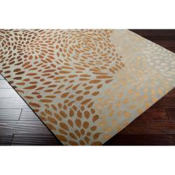 Hand-tufted Tan Allodox New Zealand Wool Rug (3'3 x 5'3) - Thumbnail 1