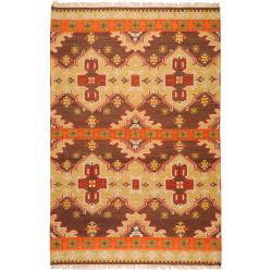 Hand-woven Southwestern Aztec Agora Hard Twist Wool Rug (3'6 x 5'6)