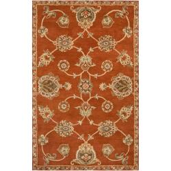 Hand-tufted Red Langley Wool Rug (3'3 x 5'3)