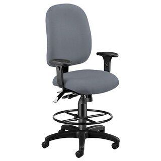 OFM Ergonomic Task Chair with Arms and Drafting Kit, Mid Back (125-DK)